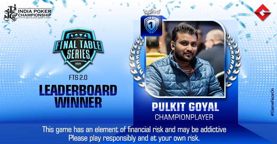 Pulkit Goyal Grabs The Top Spot INR 30 Lakh FTS 2.0 Leaderboard
