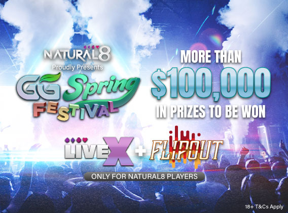Natural8 GGSF LiveX Flipout Banner
