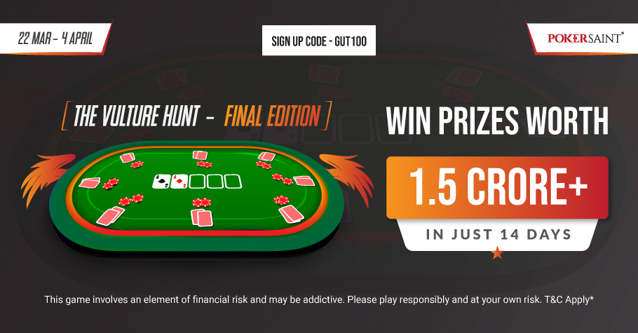 PokerSaint's 'The Vulture Hunt' Assures INR 1.5 Crore In Prize Pool