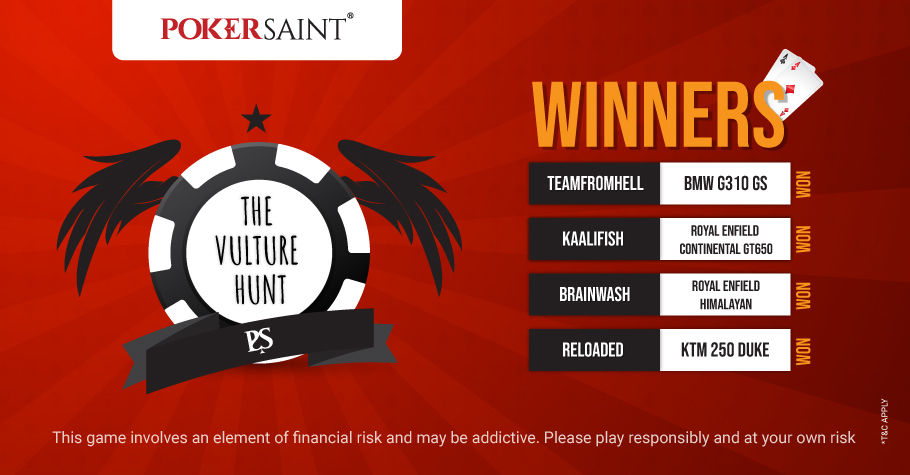 PokerSaint's The Vulture Hunt Round-Up