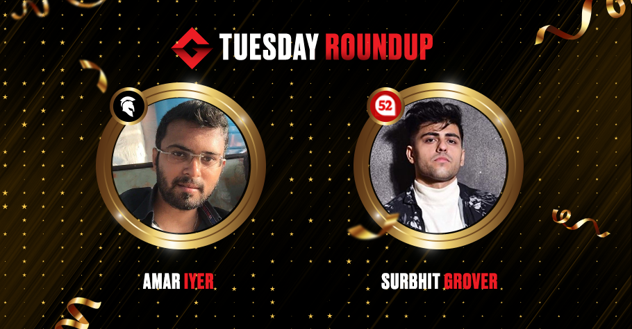 Tuesday Round Up: Amar Iyer, Surbhit Grover & 'Krifard' Are Among Tuesday's Top Winners