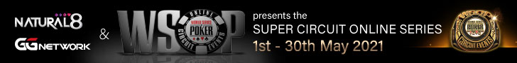 WSOP Super Circuit Online Series Returns to Natural8 in May 2021