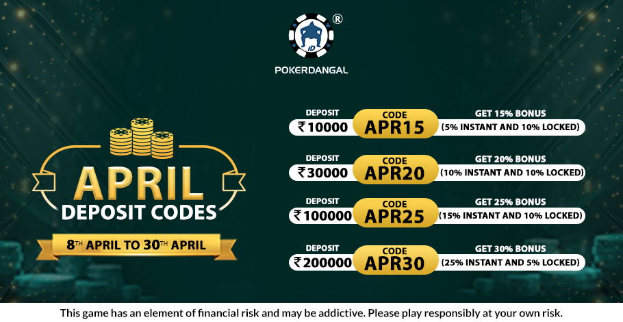 Boost Your Bankroll With PokerDangal's April Deposit Code Offers