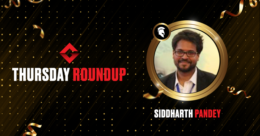 Thursday Round Up: Siddharth Pandey Ships Spartan Poker's Trending Thursday Event