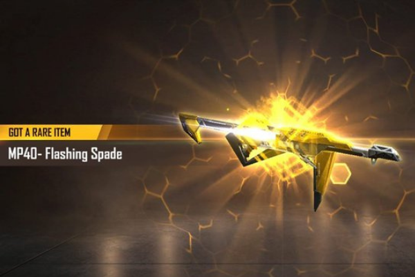 Flashing Spade - 5 Best MP40 Skins From Garena Free Fire