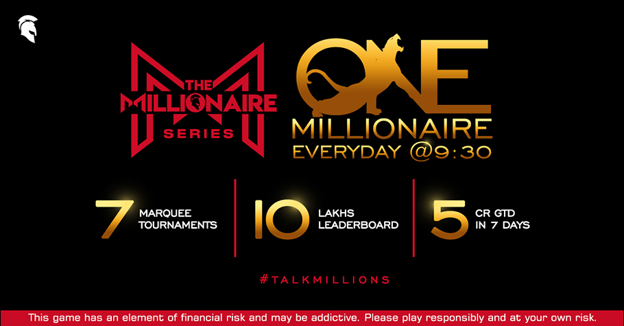 Spartan Poker's The Millionaire Series is here to deliver one millionaire everyday for 7 days.