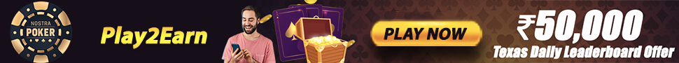 Nostra Poker Play2Earn 50K Leaderboard offer