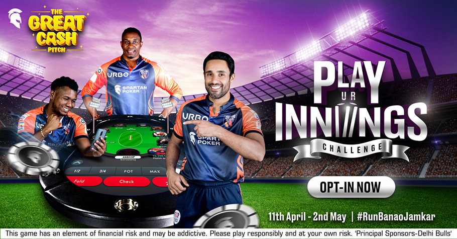 Spartan Poker's Play UR Innings Challenge Worth INR 6 Crore Is All You Need
