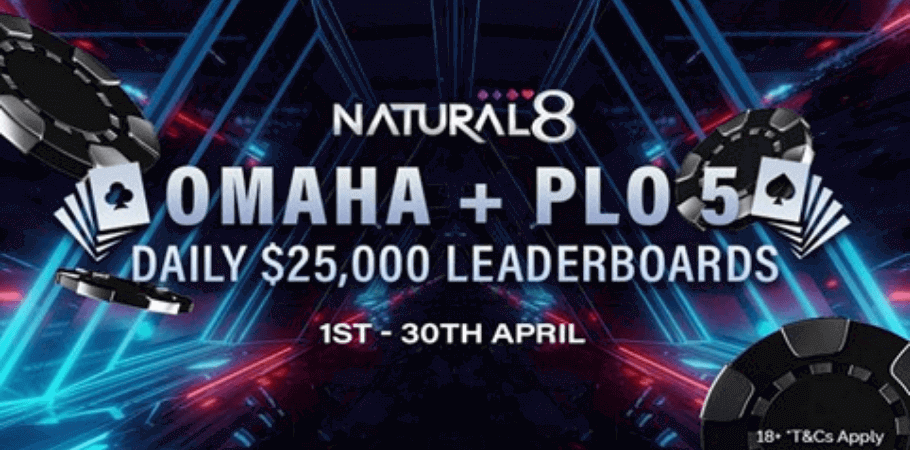 Brand New PLO-5 Cash Games & N-Stack Tournaments