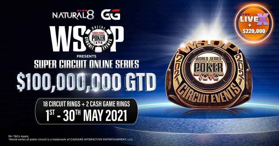 Natural8 GG WSOP presents Super Circuit Online Series