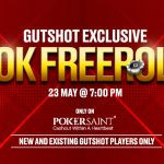 #GutshotTurns10! SIGN UP To Play A 10K Freeroll On PokerSaint