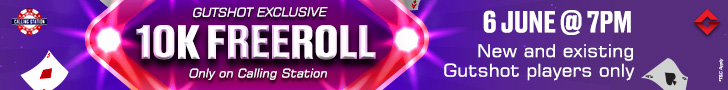 Get A Bankroll Boost With Gutshot's 10K Freeroll On Calling Station