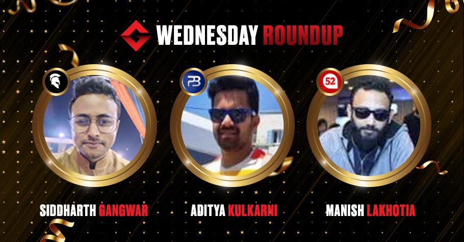 Wednesday Round Up: Lakhotia, Gangwar & Kulkarni Worked Their Magic On Poker Platforms Yesterday