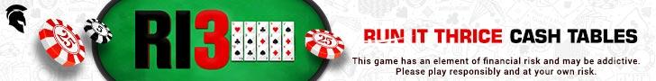 Spartan Poker Run it Thrice