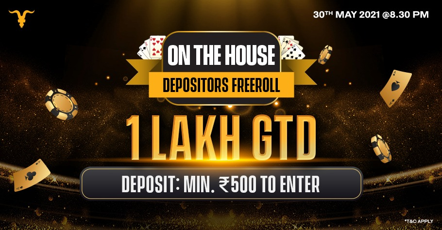 On The House Depositors Freeroll