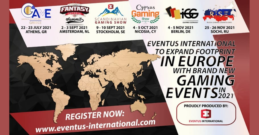 Eventus International Launches New Gaming Events for 2021 across Europe