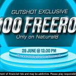 $100 Freeroll On Natural8 For Gutshot Players This Weekend