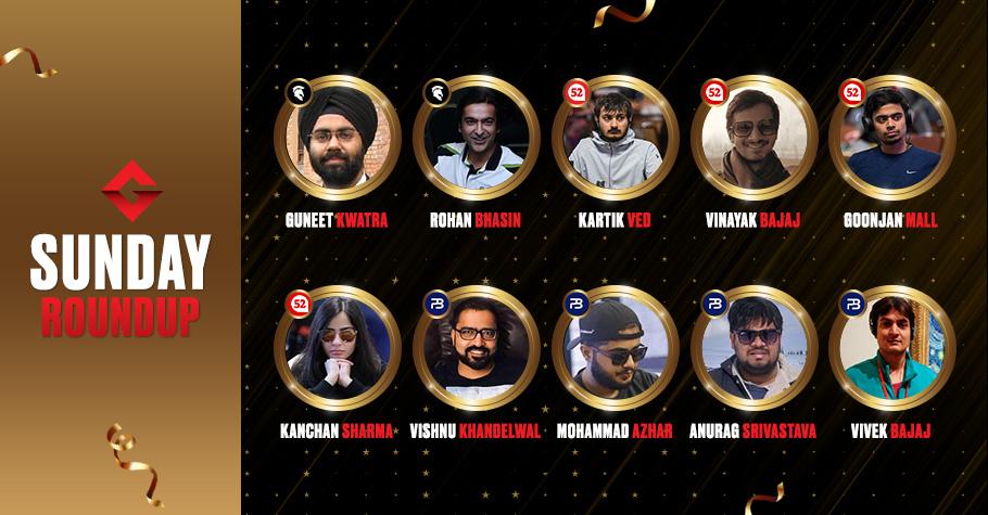 Sunday Round Up: Mohammad Azhar, Kartik Ved & Rohan Bhasin Made Big Bucks On Virtual Poker Felts