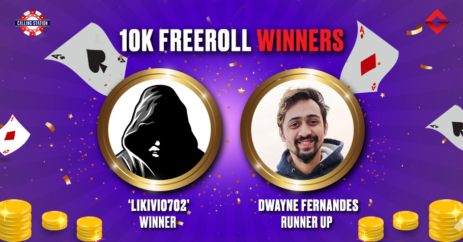 'Likivi0702' Wins Gutshot's Exclusive ₹10K Freeroll On Calling Station