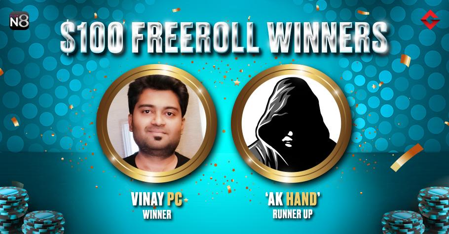 Vinay PC Wins Big At Gutshot's Exclusive $100 Freeroll On Natural8