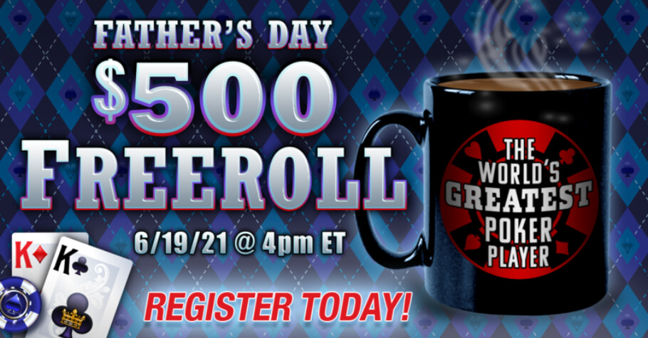 NLOP Offers Cash Freerolls For Father's Day