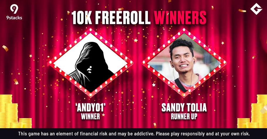 Gutshot's 10K Freeroll On 9stacks Won By 'Andy01'