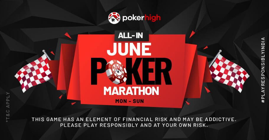 June Poker Marathon On PokerHigh Is A Rainfall Of Rewards