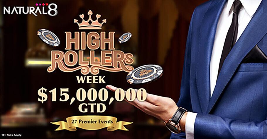Natural8 HighRoller Week promotion