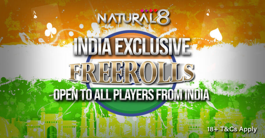 India Exclusive Freerolls Every Week On Natural8
