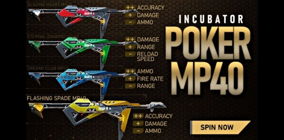Here's How You Can Get Poker MP40 In Garena Free Fire
