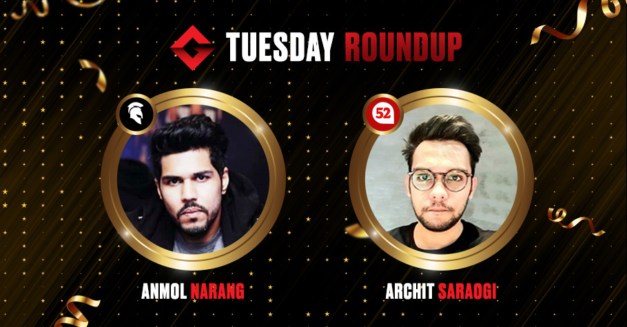 Tuesday Round Up: Anmol Narang Defeats Poker Pros To Clinch Winning Title