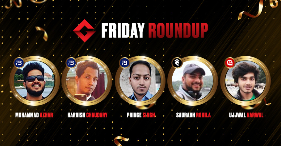 Friday Roundup: Mohammad Azhar And Saurab Rohila Among Others Grab Highest Prize Winnings