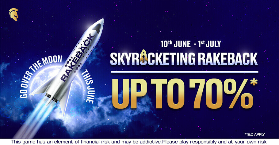 Get Up To 70% Rakeback On Spartan Poker's Go Over The Moon Promotion
