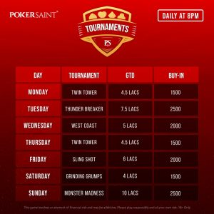 High Value Tournaments Worth ₹41.5 Lakh This Week Only On PokerSaint