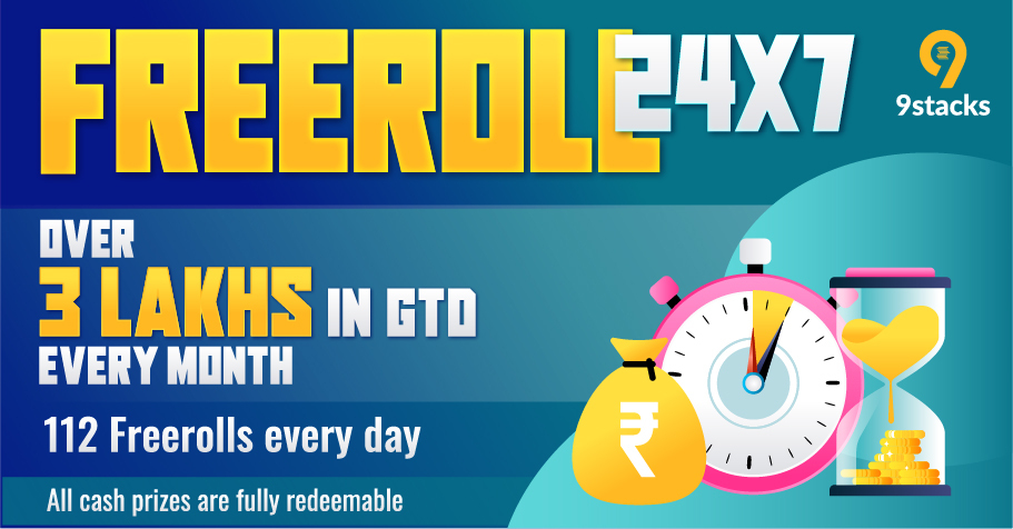 Exclusive 24X7 FREEROLLS On 9stacks With 3 Lakh In Guarantee