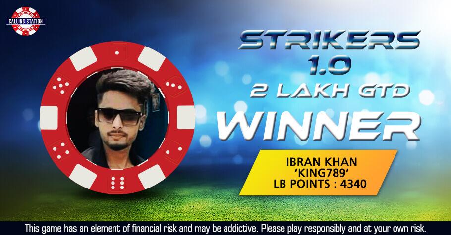 Ibran Khan Sits Atop Calling Station's July Striker 1.0 Leaderboard