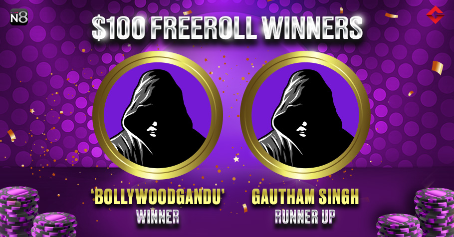 Gutshot's Exclusive Freeroll On Natural8: 'Bollywoodgandu' Clinches Title