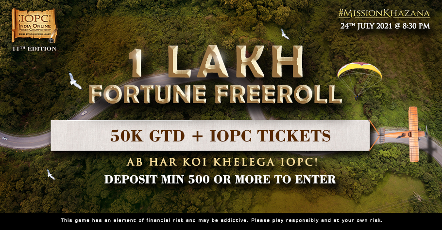 BLITZPOKER's ₹1 Lakh Fortune Freeroll Offers Free Tickets To IOPC