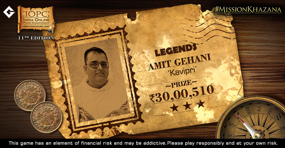 Amit Gehani Beats Top Pros As IOPC Legends Ends In A Deal