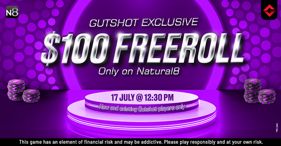 Gutshot's $100 Freeroll On Natural8 Is The Perfect Treat For You