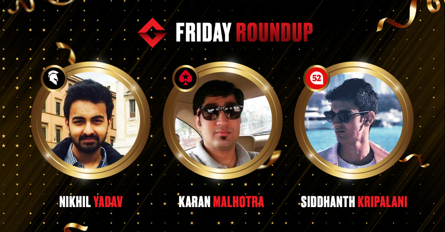Friday Roundup: Siddhanth Kripalani And Others Clinch Top Spots