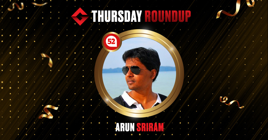 Thursday Round Up: Arun Sriram Took Down Big Game For A Whopping 14,00,000