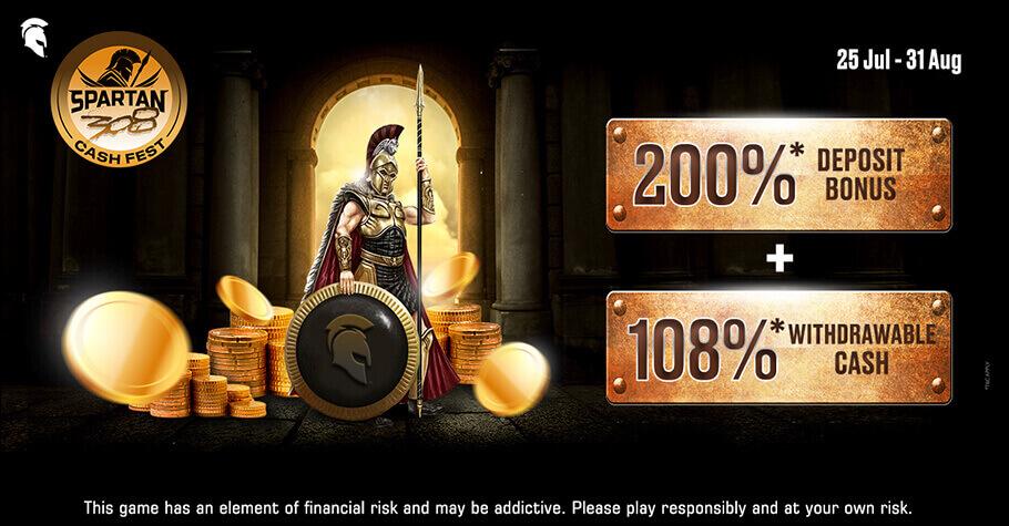 Spartan Poker Offers A 308 Cash Festival For All Deposit Bonus Lovers