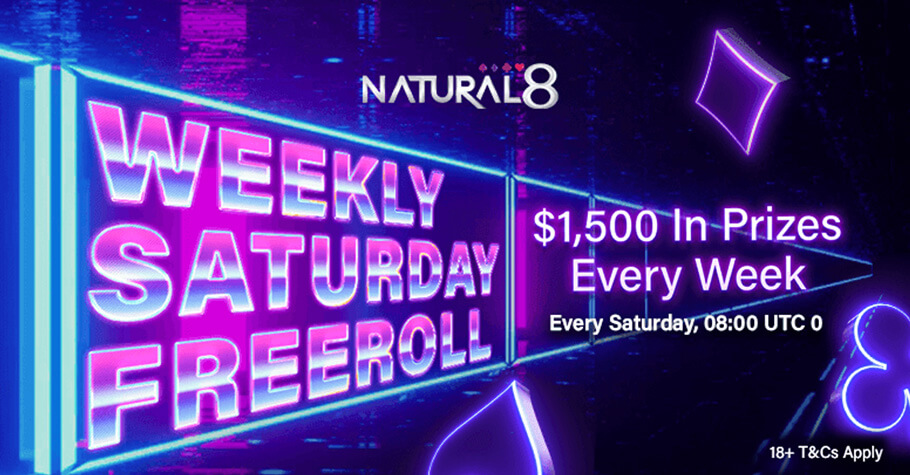 Natural8's Weekly Saturday Freeroll Offers $1,500 Worth Of Tickets