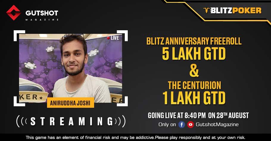 Streaming Live: Watch Aniruddha Joshi Stream Two Top-Notch Tourneys This Saturday