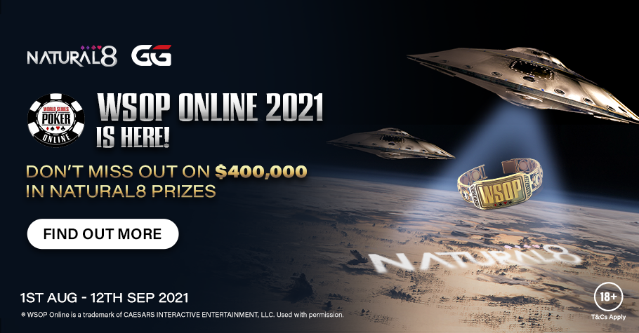 Natural8 Offers $4,00,000 Incentive To Play The WSOP Online 2021