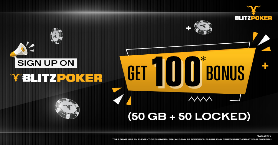 Sign Up To BLITZPOKER And Get ₹100 FREE