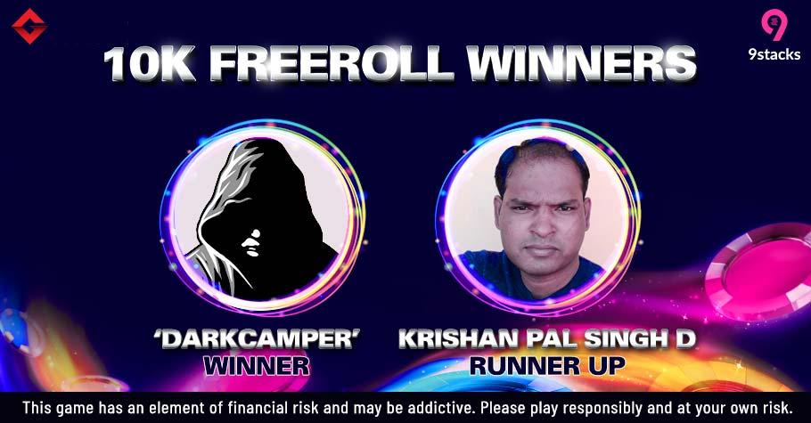 'Darkcamper' Emerges Victorious On Gutshot's 10K 9stacks Freeroll