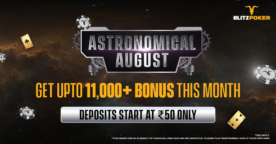 Astronomical August On BLITZPOKER Will Sprinkle Stardust On Your Poker Chips