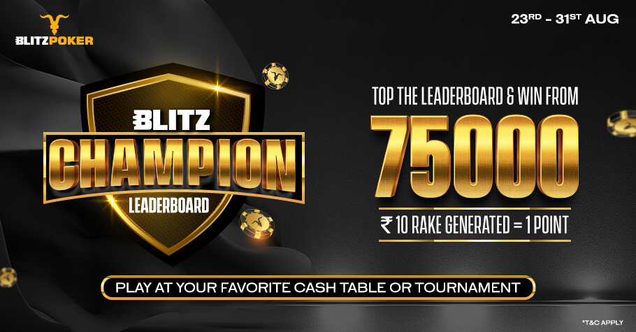 Top The BLITZ Champion Leaderboard And Win Prizes Worth 75000